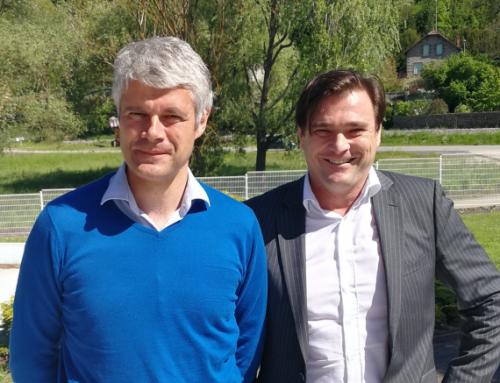 Laurent Wauquiez, député visite le groupe Rondy